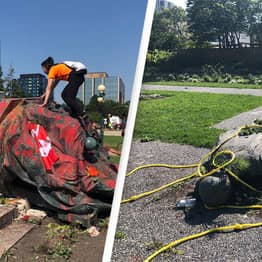 Protestors Topple Queen Elizabeth And Victoria Statues After 1000 Indigenous Children Discovered In Mass Graves