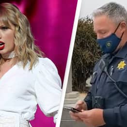 Police Officer Plays Taylor Swift Song To Block Protest Video