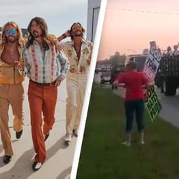 Foo Fighters Troll Westboro Church With Drive-By Disco Concert