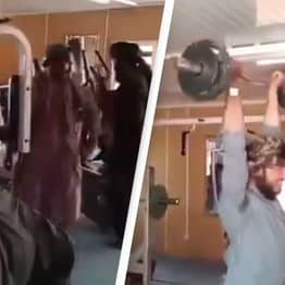Footage Shows Taliban Taking Control Of Gym Inside Presidential Palace
