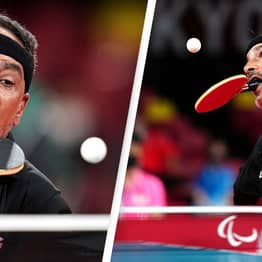 Incredible Paralympian Stuns Viewers Playing Table Tennis With His Mouth