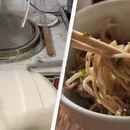Noodle Fans Mesmerised By Incredible 'Noodle-Cutting Machine'