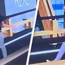 Olympics Presenter Practising How To Walk Doesn't Realise He's Live On TV