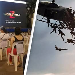 Vaccine Centre Plays World War Z While People Wait For Their Injections