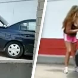 Woman Arrested After Footage Catches Her Allegedly Forcing Child Into Car Trunk