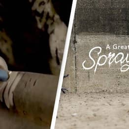 Banksy Footage Shows Him Painting Iconic Artwork
