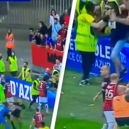 Nice v Marseille Match Abandoned Following Horrific Crowd Violence And Pitch Invasions