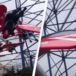 Fairground Ride Gives Lad Dizzying Corkscrew Red Arrows Experience