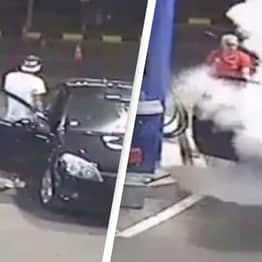 Gas Station Owner Shows Customer Who's Boss After Refusing To Put Out Cigarette