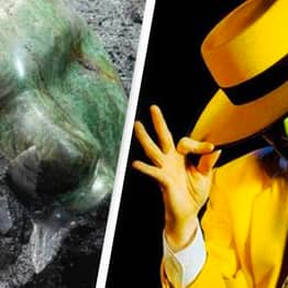 The Mask Was Found At The Bottom Of A Pyramid