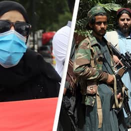 Brave Afghan Women Proudly Display National Flag In Day Two Of Protests In Kabul