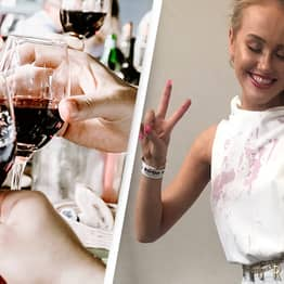 Woman Has Incredible Fix After Red Wine Ruined Her Outfit