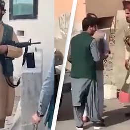 Afghanistan: Terrified Families Hand Out Red And White Roses Symbolising Friendship To Taliban