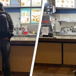 Male Karen Protests Covid Mask Rules By Urinating On Dairy Queen Counter