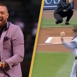 Conor McGregor Hilariously Trolled After Throwing Worst Baseball Pitch Of All Time