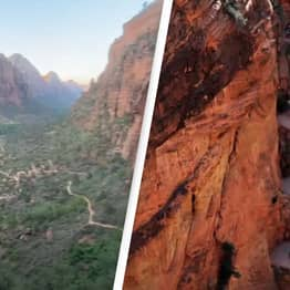 Woman Completes One Of The Most Dangerous Hikes In The US In Sandals