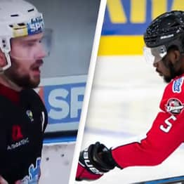 Hockey Player Makes Racist Gesture At Black Opponent And Gets Ejected