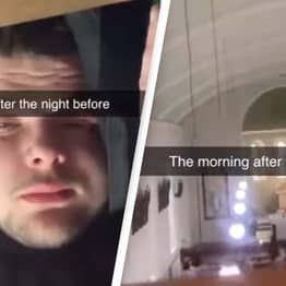 Man Wakes Up After Night Out In The Middle Of A Church Service
