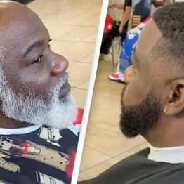 Barber Transforms Man From Looking 77 To 27 In Incredible Video