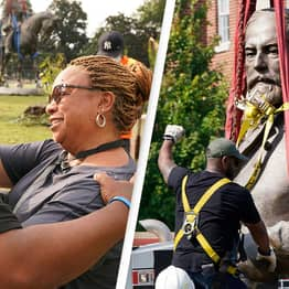 Crowds Cheer As 131-Year-Old Robert E. Lee Statue Is Removed
