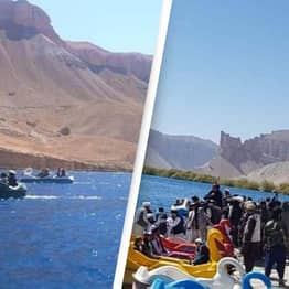 Bizarre Pictures Show Taliban Riding Swan-Themed Pedal Boats