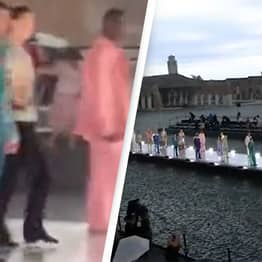 Dolce & Gabbana Open-Air Fashion Show Hammered By Freak Hailstorm, Causing Models And Public To Flee