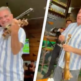 Dad Steals The Show From Mariachi Band With Incredible Voice