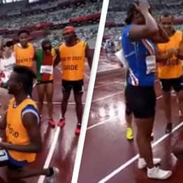 Running Guide Proposes To Blind Sprinter After Race In Touching Paralympics Moment
