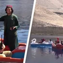 Surreal Footage Shows Armed Taliban Enjoying Pedal Boat Rides In The Sun
