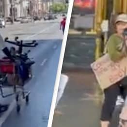 Homeless Person Shuts Down Anti-Vaxx Street Protest Perfectly