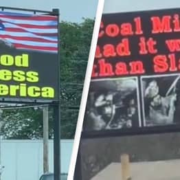Shocking Gas Station Billboard Captured On Video Outrages Viewers