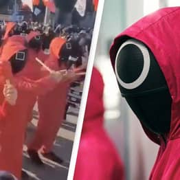 South Korean Protesters Wear Squid Game Costumes To Demand Better Working Conditions