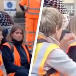 Woman Starts To Drive Over Insulate Britain Protesters In Shocking Video