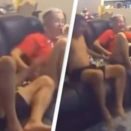 Dad's Wholesome Reaction To Son's First Steps Is The Best Thing You'll See Today