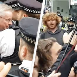 Michael Gove Swarmed By Anti-Vaxx Protesters In Central London