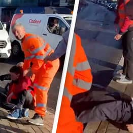 Livid Motorists Drag Insulate Britain Protesters Out Of The Street So An Ambulance Can Get Through
