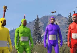 This Hero Has Spectacularly Recreated The Teletubbies Intro In GTA V