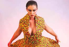 Penniless Woman Who Made An Amazing Dress Out Of Skittles On Track To Become Millionaire