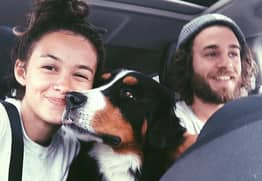 Dog Travels The World In Couple's Converted School Bus