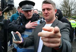 Tommy Robinson Supporter Cries After Being Arrested For Doing Nazi Salutes