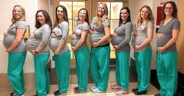 9 Pregnant Nurses Working In Same Labour Ward All Due Within Weeks Of Each Other