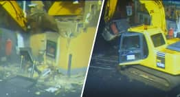Thief Rips ATM Out Of Wall Using Digger