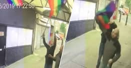 LGBTQ+ Pride Flags Torn Down By 'Pathetic' Vandals