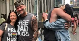 Guy Offers 'Free Dad Hugs' At Pride And Makes People Cry