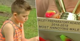 Boy With Autism Given School's Most Annoying Male Award