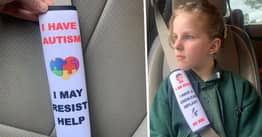 Mother Creates Seat Belt Covers To Warn Emergency Services Of Children's Health Issues