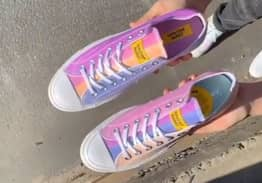 New Converse Change From White To Rainbow Colours When You Walk In The Sun
