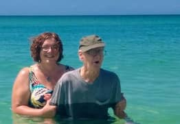 93-Year-Old Man Goes To Beach For First Time On His Birthday