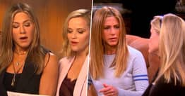 Jennifer Aniston And Reese Witherspoon Recreate Iconic Friends Scene