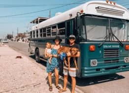 Couple Pay Off Debt And Travel World In Renovated Military Bus
